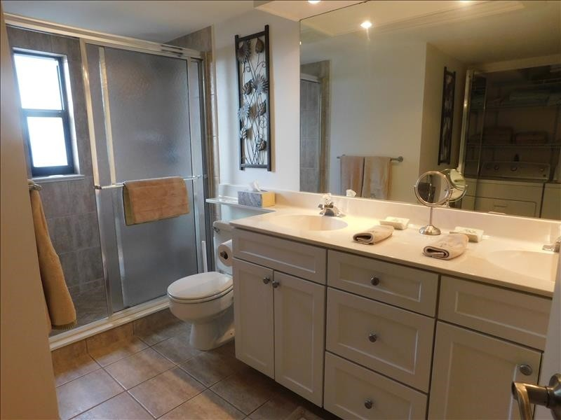 Master bath with walking shower
