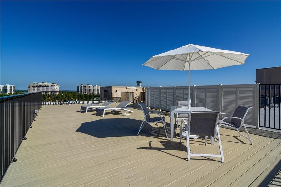 Rooftop Terrace is totally private