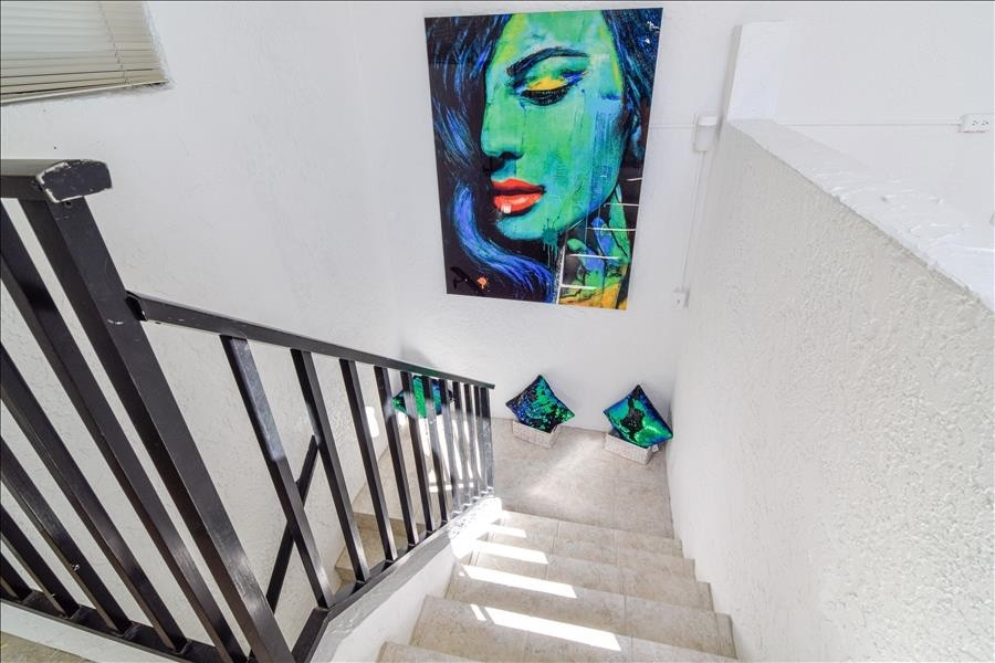 Stairwell to your private rooftop